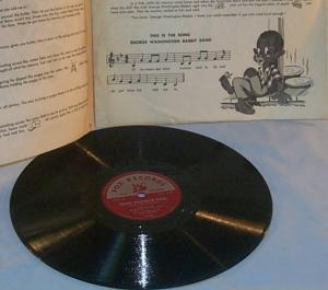 Ethnographic GEORGE WASHINGTON RABBIT Record Soty Game