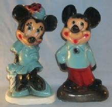 Contemporary Toys MICKIE AND MINNIE MOUSE Chalkware Figurine Banks