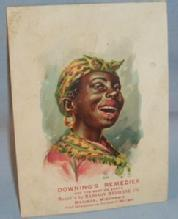 Ethnographic Advertising Trading Card Black Woman Decorated DOWNING'S REMEDIES
