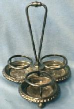 vintage  Caster Frame for Salt & Pepper & Mustard -