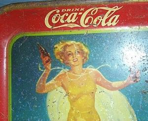 1937 COCA COLA Advertising Serving Tray