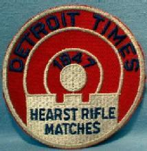old Detriot Michigan Hearst Rifle Match - 1947 Sporting Shoulder Patch