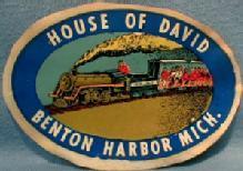 House of David Benton Harbor Michigan RAILROAD TRAIN Advertising