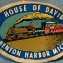 House of David Benton Harbor Michigan RAILROAD TRAIN Advertising
