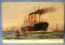 vintage Steamship Postcard - United States Lines SS AMERICA US Goverment Ship - Steamship Postcard - Paper