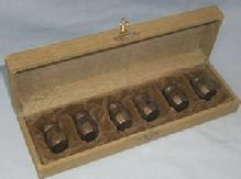 Set of Six Sterling Silver Shakers in Original Box - Metalware
