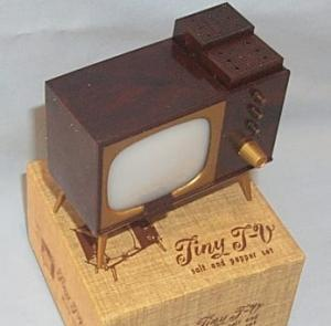 TINY TV Salt and Pepper Set in Original Box - Misc.