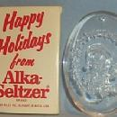 ALKA-SELTZER Clear Plexiglas Christmas Ornament in Case - Advertising