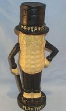 Contemporary Cast Iron MR. PEANUT Bank / Doorstop - Advertising