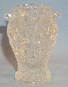 Crystal Glass DAISY AND BUTTON Urn Toothpick Holder