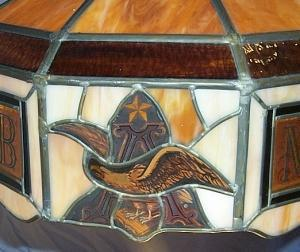 Anheuser-Busch MICHELOB Advertising Leaded Glass Hanging Lamp