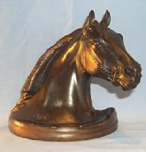 One TURNING HORSE Grey Metal Bookend metalware