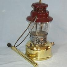 Polished Brass AGM Kerosene Lantern With Hand Pump Sporting.