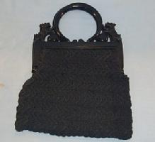 SCOTTIE DOG Dark Blue Child's Crocheted Purse - Toys