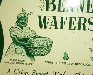 BENNE WAFERS Advertising Tin - Ethnographic
