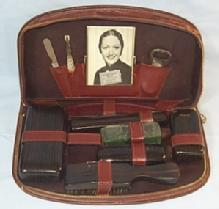 Man's Traveling Vanity Set in Leather Case - Misc.