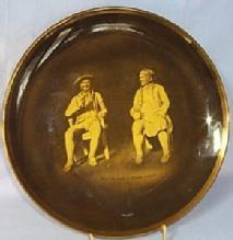 Ridgways TAM O'SHANTER & SOUTER JOHNNY  Commemorative Porcelain Hanging Plate