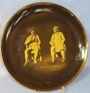 Ridgways TAM O'SHANTER & SOUTER JOHNNY  Commemorative Porcelain Hanging Plate