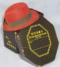 Minature  DOBB'S FIFTH AVENUE HATS  Advertising Salesman's Sample Hat In Original Box.
