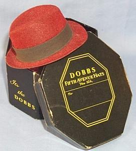 Minature  DOBB'S FIFTH AVENUE HATS  Advertising Salesman's Sample Hat In Original Box.