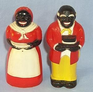 AUNT JEMINA AND UNCLE MOSE Plastic Salt and Pepper Shaker Set - Ethnographic