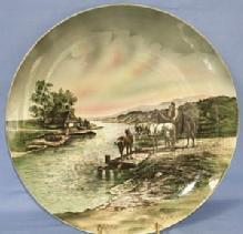Large Porcelain VILLEROY & BOCH Decorative Hanging Plate.