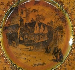 RIDGWAYS COACHING DAYS Old Marlborough Porcelain Commemorative Plate