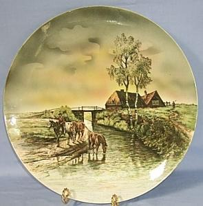 Large Porcelain VILLEROY & BOCH Decorative Hanging Plate