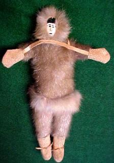 Eskimo Doll Ivory Leather - Toys