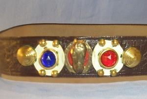 Miscellaneous Bronze Metal and Jewel Decorated Cowboy Belt.