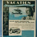Santa Fe Bus - 1938 Advertising Time Tables - Paper