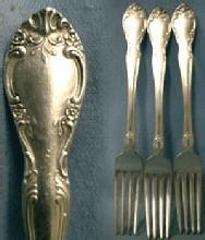 vintage Gorham NEW ELEGANCE Silver Plate Flatware - Group of 3 Forks