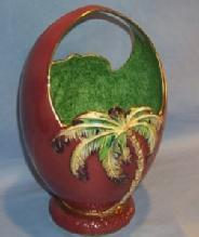 Beautiful Porcelain BESWICK Palm Tree Basket