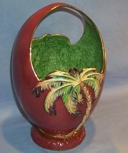 Beautiful Porcelain BESWICK Palm Tree Basket