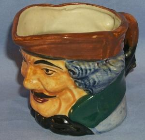 OCCUPIED JAPAN Man with Mustache Porcelain Toby Mug