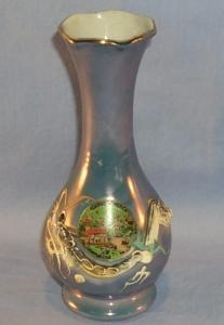Blue Lustre DRAGONWARE Advertising Porcelain Vase