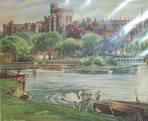Union-Castle Line R.M.S. PRETORIA CASTLE Windsor Castle Decorated 1960 First Class Dinner Menu - Paper