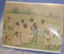 Ethnographic  Photo Copy Of E.M. ASHE  Black Children Playing.