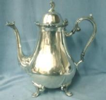 vintage International Silver Plate 3-piece Service -  Teapot Sugar Creamer SET