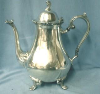 vintage International Silver Plate 3-piece Service -  Teapot Sugar Creamer SET