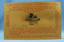 Fly Fishing Bait SHAD FLY  Lure - Hand Tied Fly - Vintage Advertising & Sporting