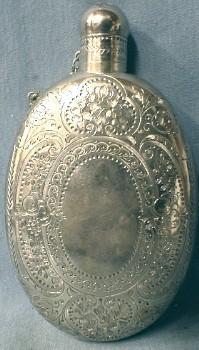 Victorian Sterling Silver Whiskey Flask - George Angell