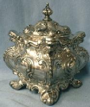 English Plate Tea Caddy  1860 Silver