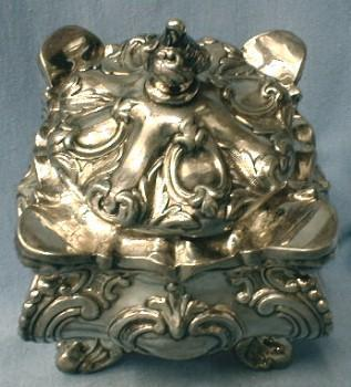 English Plate Tea Caddy  1860 Silver