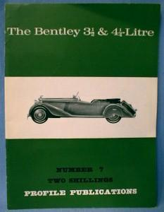 BENTLEY  Automobile Book - Vehicle Paper