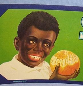 Eight Black Memorabilia SNOWBALL Florida Oranges Paper Packing Crate Labels - Advertising