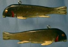 Wood Fish Decoy - Hand Carved Wood - Sporting