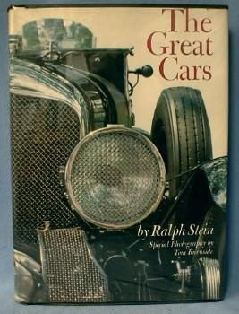 old vintage Automobile Book The GREAT CARS by Ralph Stein - Vintage Hard Cover Book - paper