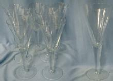 Cambridge glass Goblet  Group of 7  -  Glass Stemware