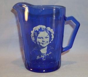 Cobalt Blue SHIRLEY TEMPLE GLass Pitcher